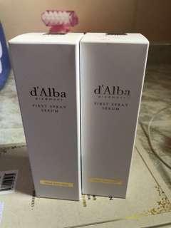 D'Alba first spay serum