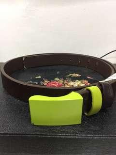 Green buckle belt