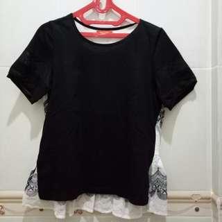 T's club black blouse
