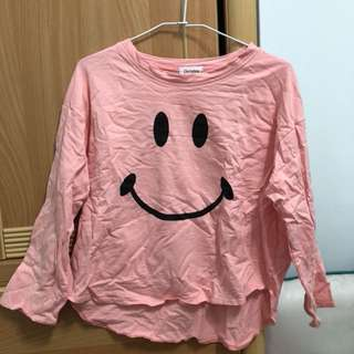 微笑粉色七分袖