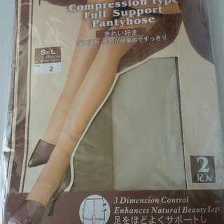 日本製~肉色絲襪2對