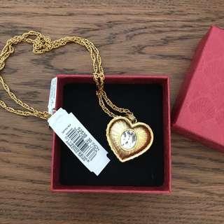 🇺🇸made 14k gold plated Swarovski crystal necklace