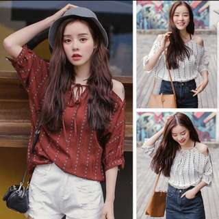[INSTOCKS] maroon lace up top