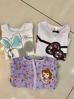 SALE! 3 sets nightwear for girls Disney
