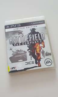 PS3 Battlefields Bad Company 2 Limited Edition