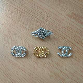 New CC Brooches