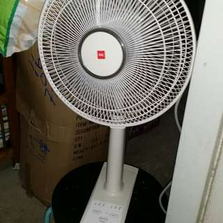KDK 12 inch table fan, Fan is usable (All switches IN PICTURE 2 CANNOT be used)(Fan is ON when plug in socket, Wind is mild strong)(please notice), trade in Tuen.Mun station. KDK電風扇,插電後着,只能用插蘇關,(板面掣全不能用),屯門交收