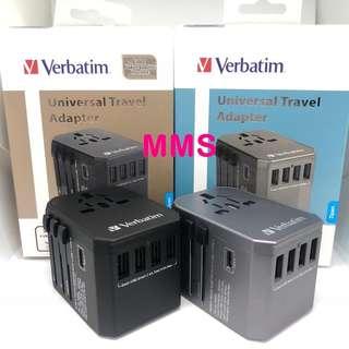 原裝行貨 Verbatim 4 USB type c 旅行 萬能轉換插頭 插蘇 轉換器 旅行適配器