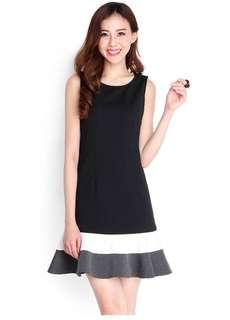Lilypirates Top tier list dress in black