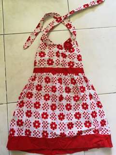 Red/White Floral toddler dress