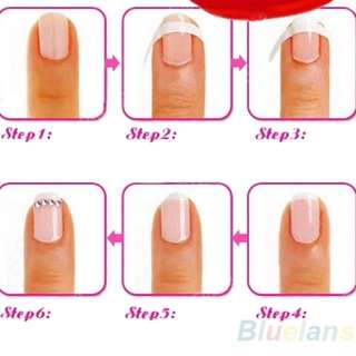 One sheet French tip manicure guide
