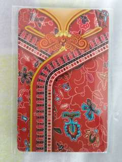 Singapore Airlines Red Kebaya Ezlink Card