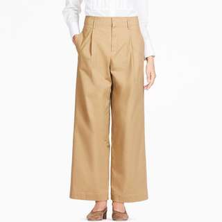 Women High Waist Chino Wide Leg Pants
