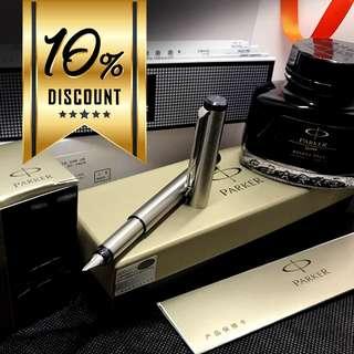 Good Friday Promotion Parker Vector Matt Stainless Steel Fountain Pen