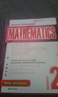 Sec 2 normal(technical)maths text book sec 2 NT examination paper
