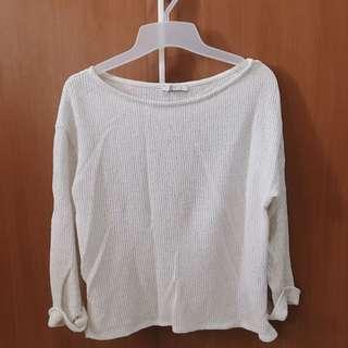 Zara white sweatshirt
