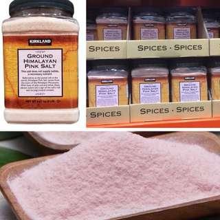提升肉質鮮味 補血 骨質疏鬆 天然無污染喜瑪拉雅山粉紅岩鹽 (5磅裝) Kirkland Signature Ground Himalayan Pink Salt 5lb