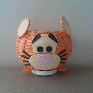 跳跳虎 紙籐籃 Disney 迪士尼