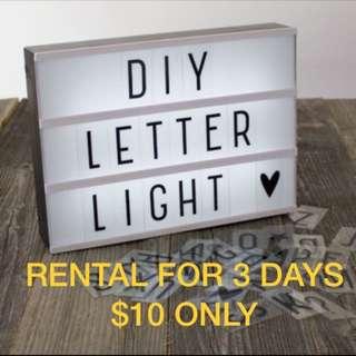 RENTAL: Lightbox Letters LED Party Deco Birthday Wedding DIY