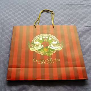 Paper Bag by Crabtree & Evelyn (Qty 2/2)
