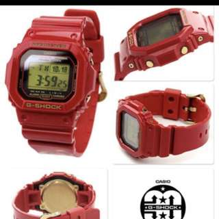 CASIO G-SHOCK Rising Red GW-M5630A-4 Men's Watch 30th Anniversary Limited   G-shock