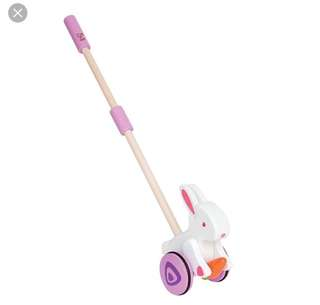 Hape pull and push bunny toy