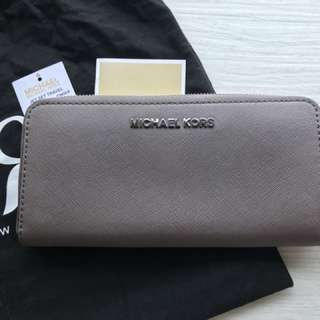Michael Kors Zip Continental Cinder Wallet