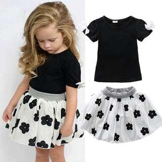 SET SHIRT + SKIRT FLOWER
