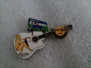 Hard Rock Cafe Pins ~ HOLLYWOOD FL HOT 2014 HRC WELCOME GUITAR PIN!