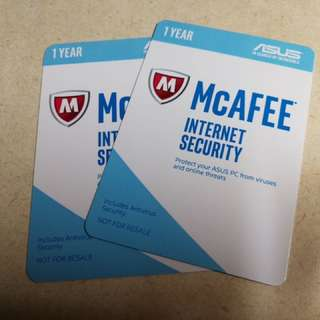 McAfee Antivirus for 2 years: $12 for 1 year and $20 for 2 years