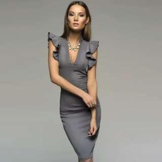 Office Grey Dress