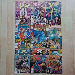 Marvel Comics X-tinction Agenda Complete 9 Issue Story Arc Jim Lee Rob Liefeld Art Near Mint Condition First Print