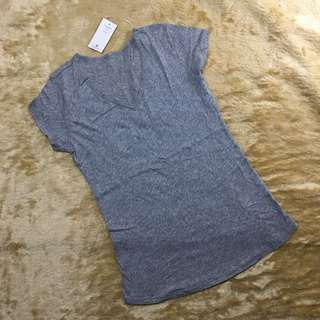 top - v-neck misty grey