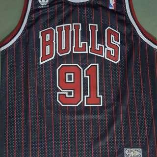 Rodman Bulls pinstripe Jersey