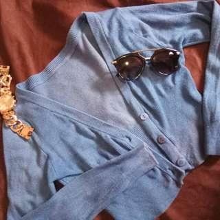 Buttoned down half blazer