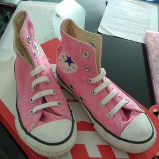 Converse All Star Pink High Cut gal shoes