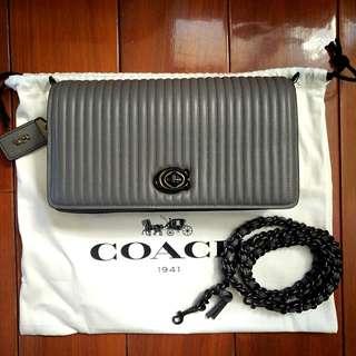 COACH Dinky灰色鏈帶包(全新)