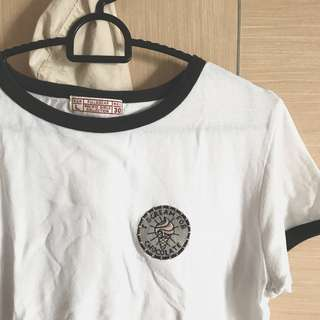 pull&bear i scream for chocolate ringer tee