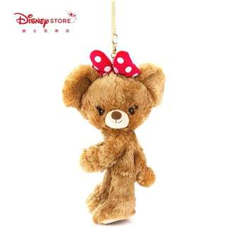 🚚 小熊世界~Disney迪士尼大學熊布丁絨毛娃娃吊飾零錢包