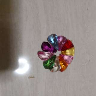 Diomand flat beads