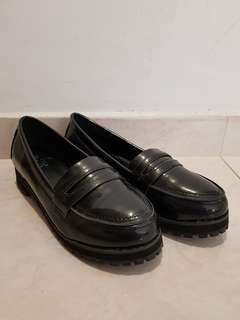 Lady' Black Leather Shoes