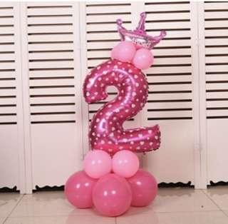 DIY Standing Number Balloon