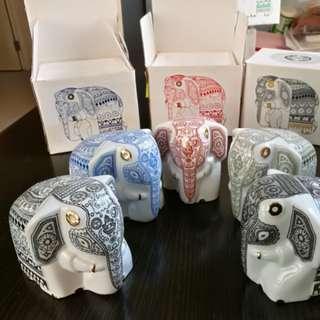 瓷製大象裝飾/茶葉罐