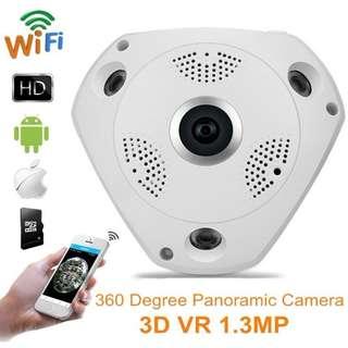 HD 960p Wireless IP Camera VR 360 3D Panorama Wifi LAN network P2P CCTV