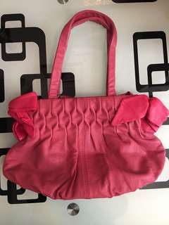 Touch Ladies Handbag red/pink colour - leather