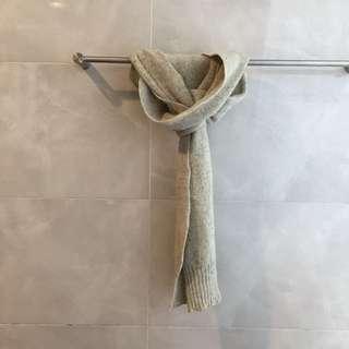 羊毛加長圍巾-男女皆適合-白色好搭圍巾