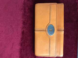 FOSSIL MADDOX FLP CLUTCH Medium Orange
