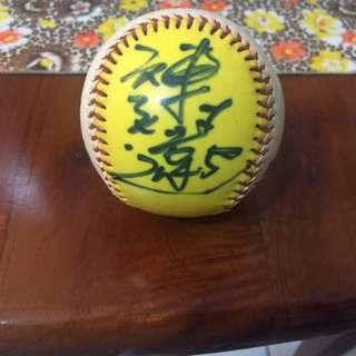 🚚 兄弟象 黃金戰士陳致遠簽名紀念棒球