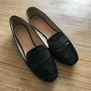 黑色 平底鞋 black flat
