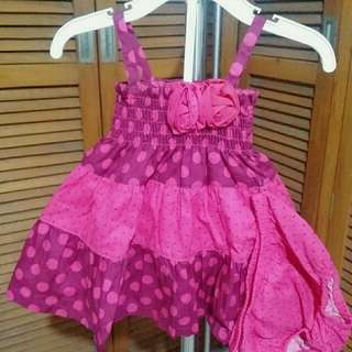 Magenta Sundress with Diaper Panty